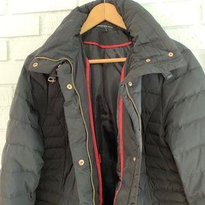 Black Jones New York Parka Length Down Coat Sz XL